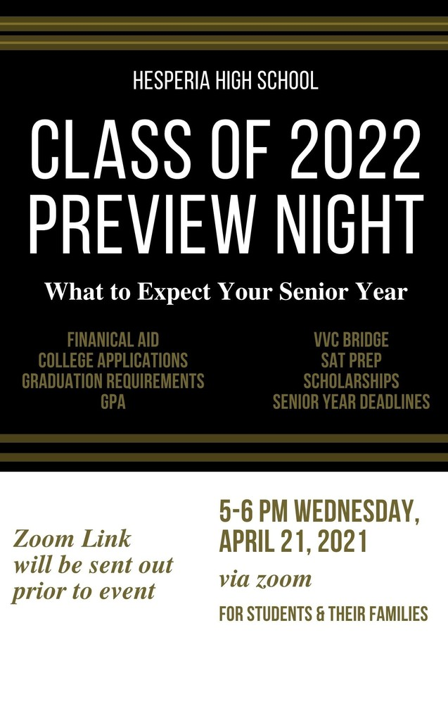 Class of 2022 Preview Night