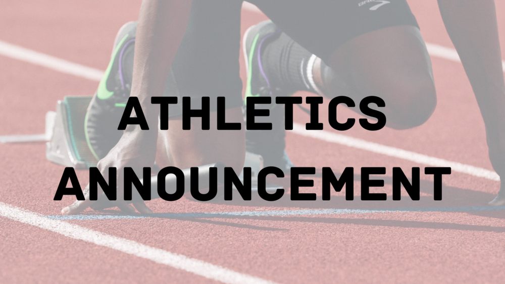 Athletics/Activities Tiered Reopening Guidance Announcement