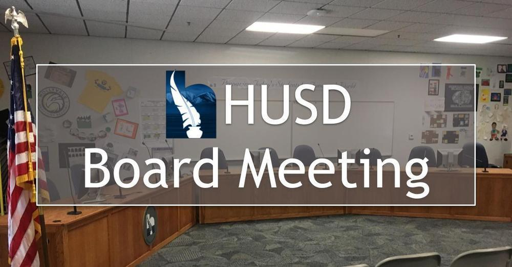 HUSD Board Meeting - January 13, 2020