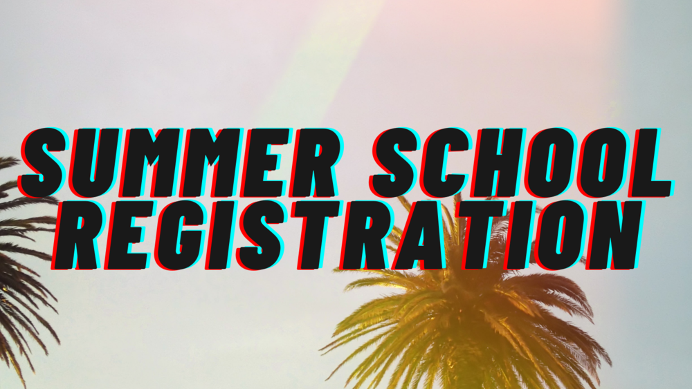 SUMMER SCHOOL 2021 REGISTRATION NOW OPEN!!