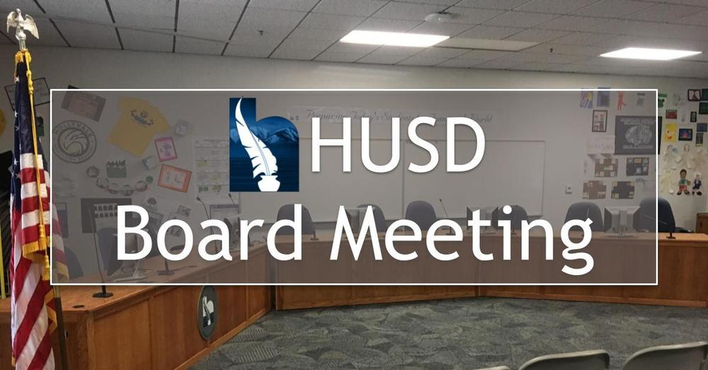 HUSD Board Meeting - September 10, 2018