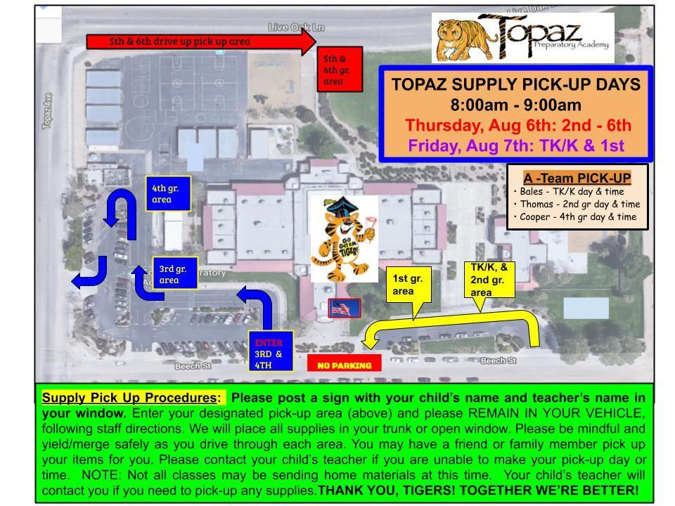 Topaz Supply Pick-Up Days