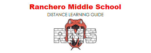 RANCHERO DISTANCE LEARNING GUIDE