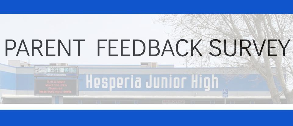 Parent Feedback Survey