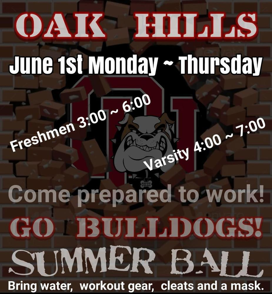 OHHS Football: Summer Ball