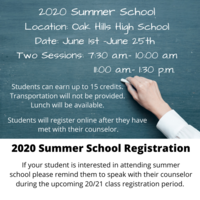 2020 Summer School Registration