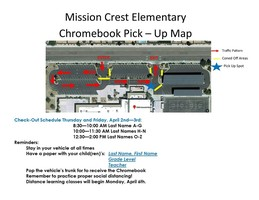 ​Mission Crest Chromebook Pick Up Map