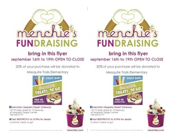 Menchie's Fundraiser is back!