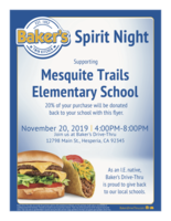 Support our school with great food!