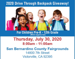 2020 Drive Through Backpack Giveaway!