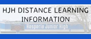 HJH Distance Learning Information