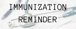 7th Grade Immunization Reminder