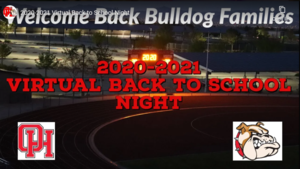OHHS Virtual Back to School Night 2020-2021