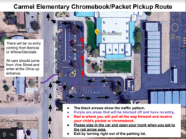 Map of Chromebook Pickup Route