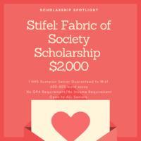 Scholarship Spotlight of the Week