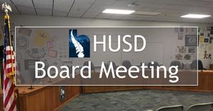 HUSD Finance Corp Board Meeting - December 9, 2019