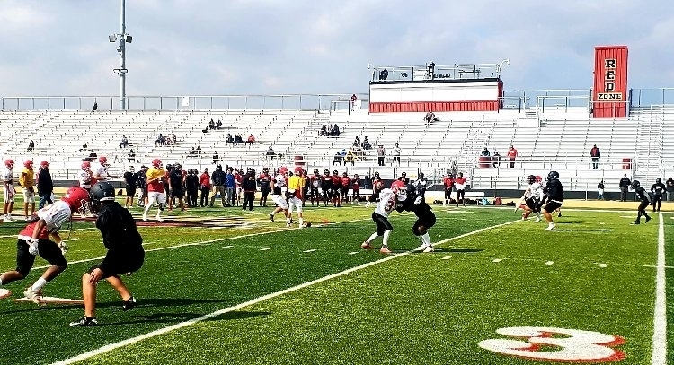 Bulldog football making its return to action with a scrimmage at Etiwanda High School. Thank you Eagles for hosting us!