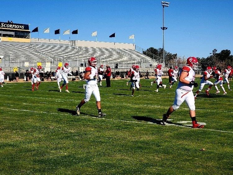 Bulldog football opening league play at HHS with a 48-13 victory. next game will be at Serrano Saturday, 4/3 @ 10am. Thank you Scorpions for hosting us and good luck the rest of the season!