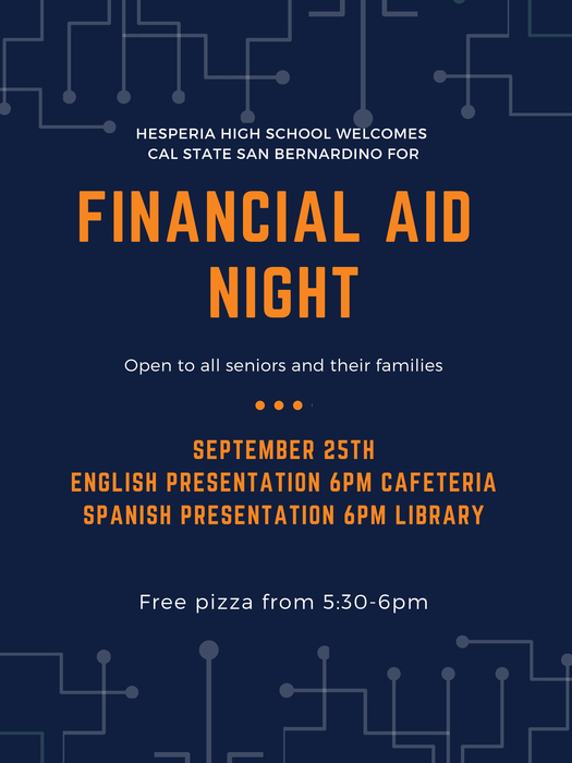 HHS Financial Aid Night 2018