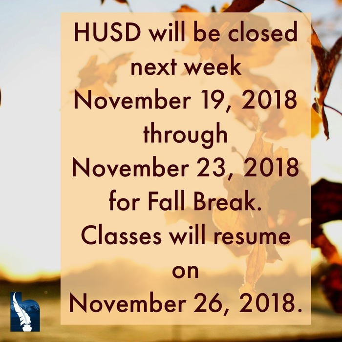 Fall Break Closure