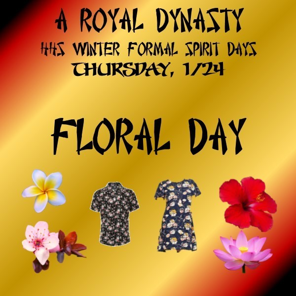 2019 Winter Formal Floral Day