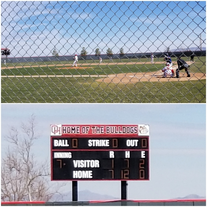 Baseball opening up league with a 7-1 win over Serrano!