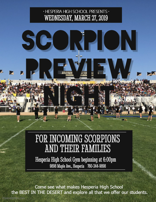 Scorpion Preview Night