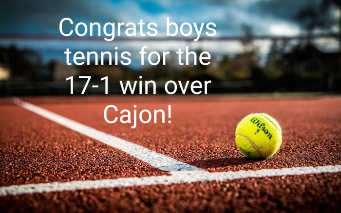 Great job tennis!