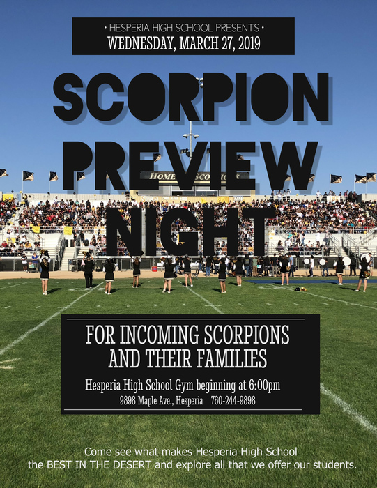 Scorpion Preview Night 2019