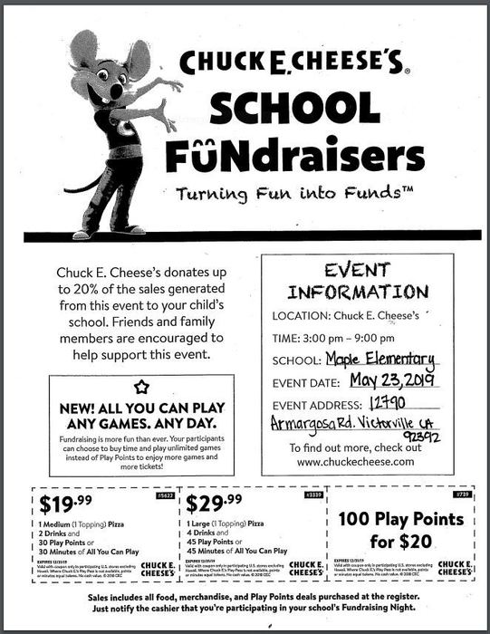 Family Night Out Fundraiser
