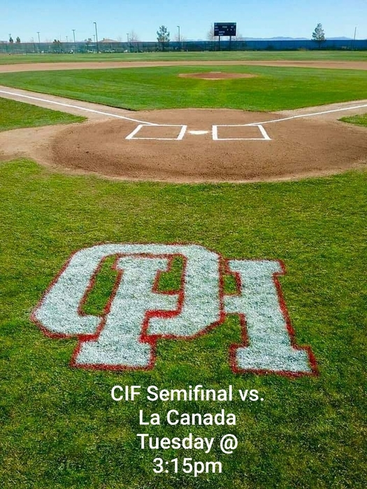 There is only one place to be on Tuesday at 3:15pm!!! Your Bulldogs baseball team takes on La Canada at home in the CIF Division III semifinal! We look forward to seeing everyone there!