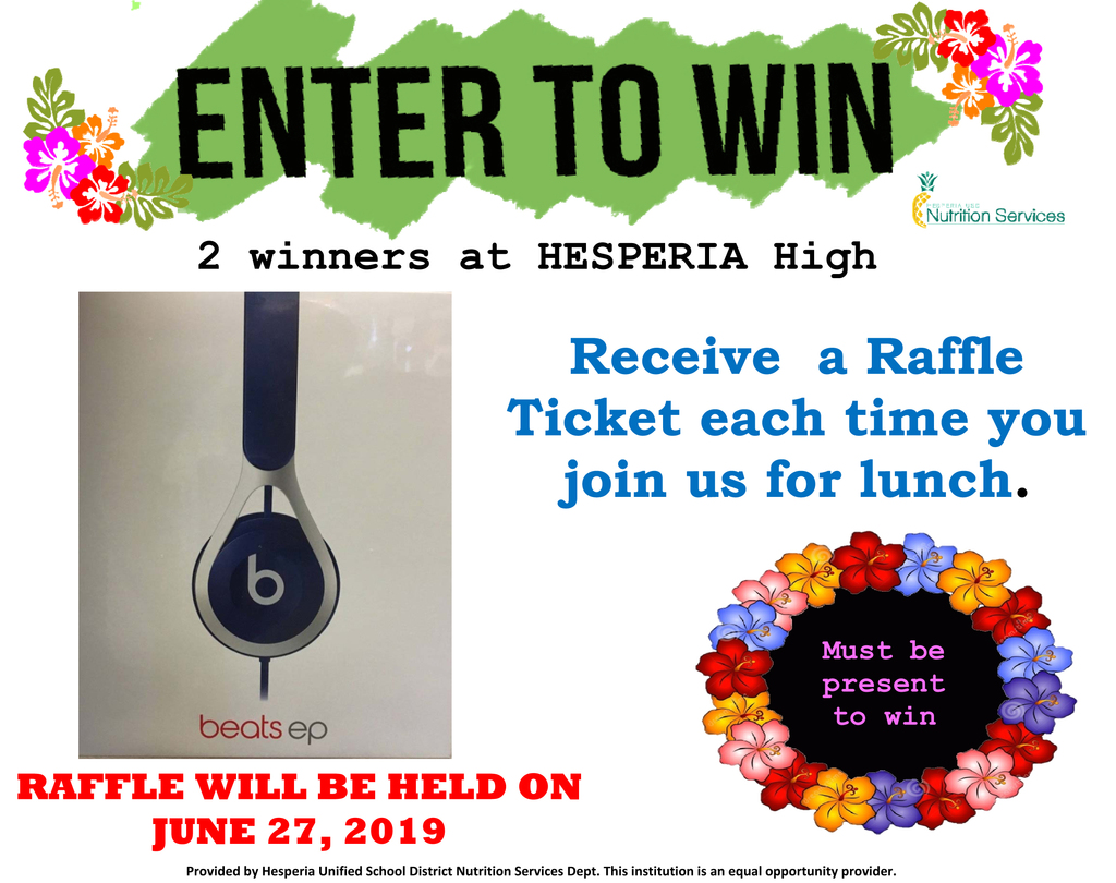 Headphones Raffle Flyer