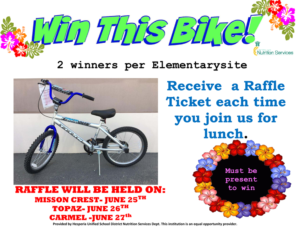 Bicycle Raffle Flyer