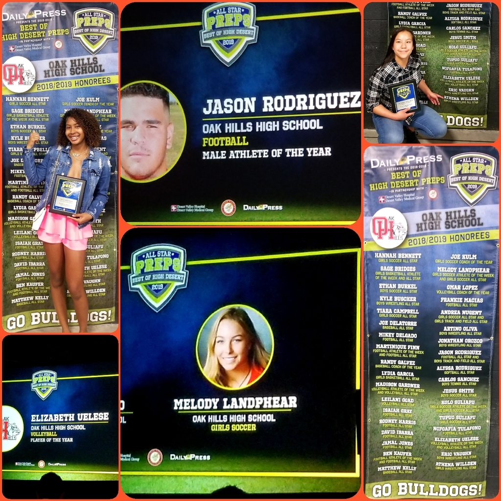 Amazing evening having Hall of Fame football player Tim Brown acknowledge our Coaches of the Year as well as our Athletes of the Year at the High Desert Best of Preps awards ceremony. So proud of our Bulldogs!