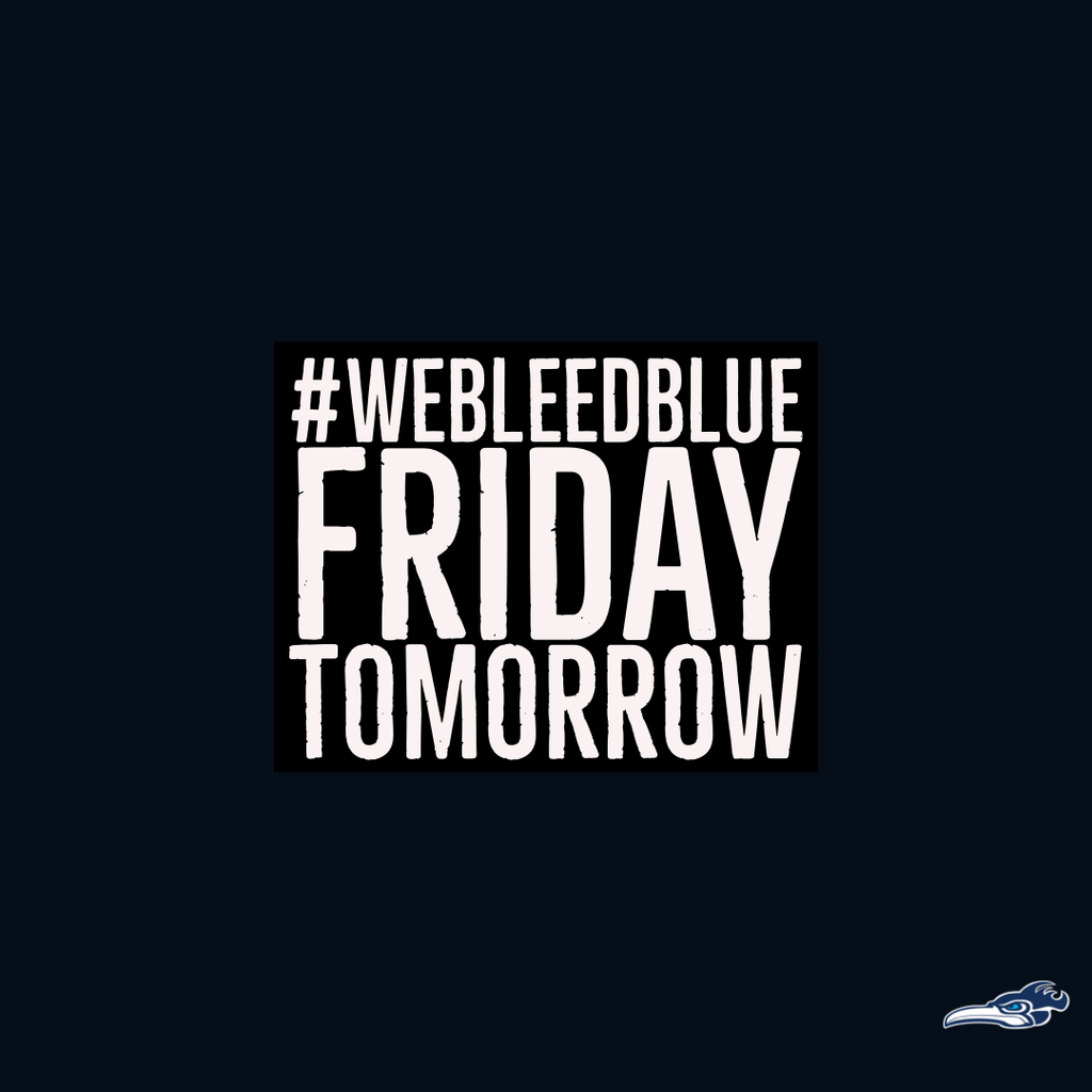 Bleed blue Friday
