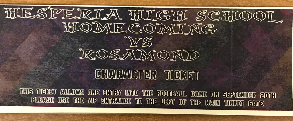 Homecoming ticket