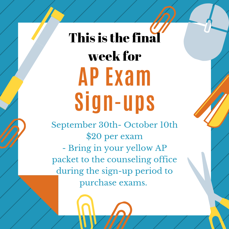AP Exam Sign-ups