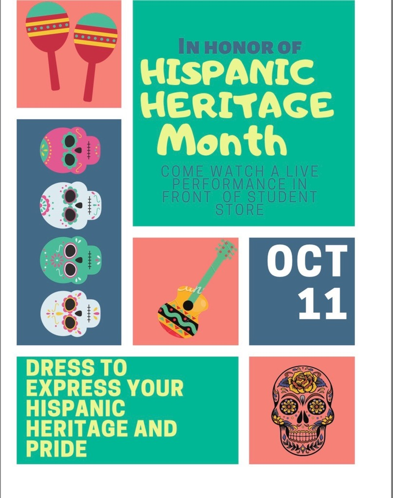 Poster for Hispanic Heritage Month