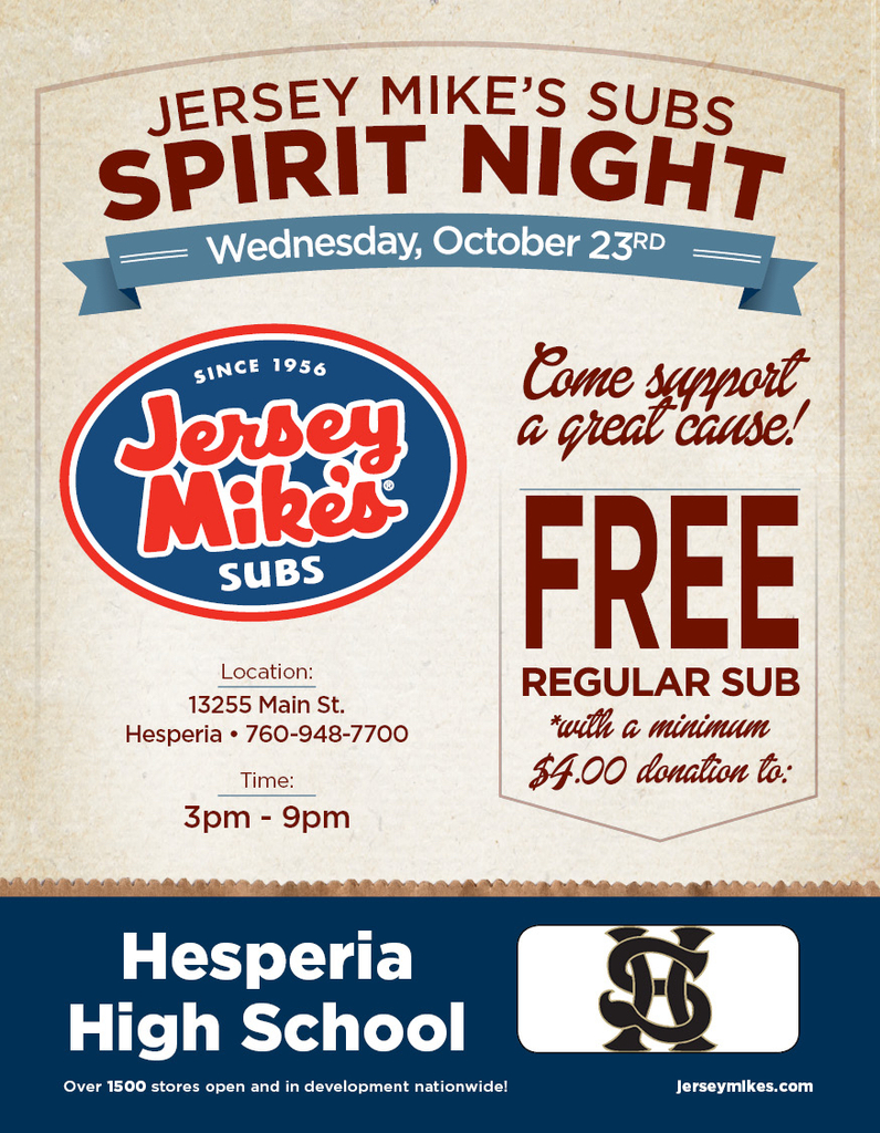 Jersey mike flyer