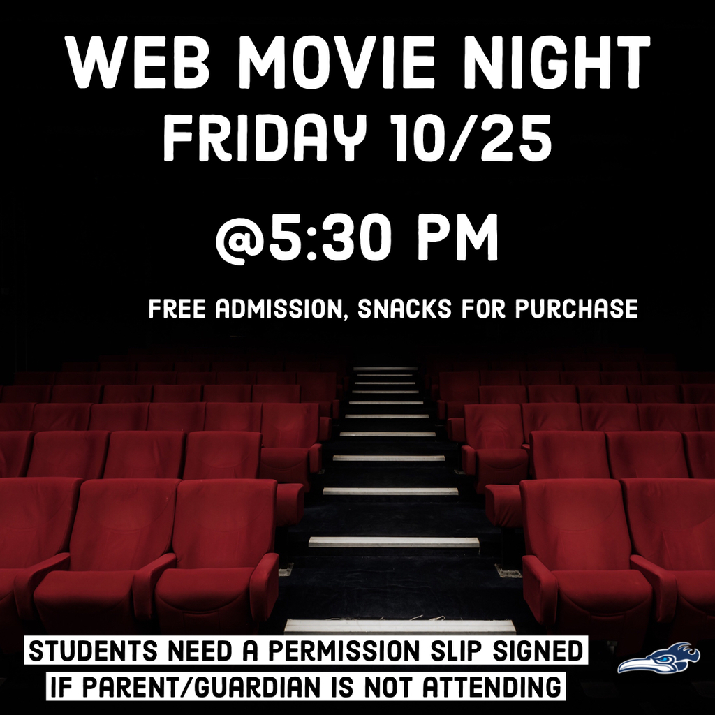 Web movie night flyer