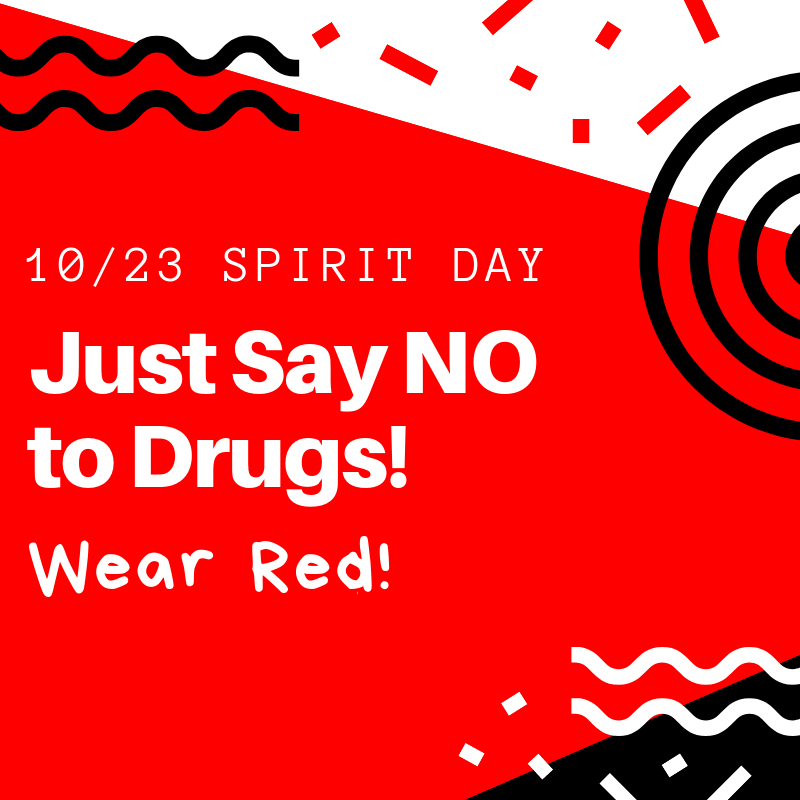 Red Ribbon Week - Wear red on Wednesday
