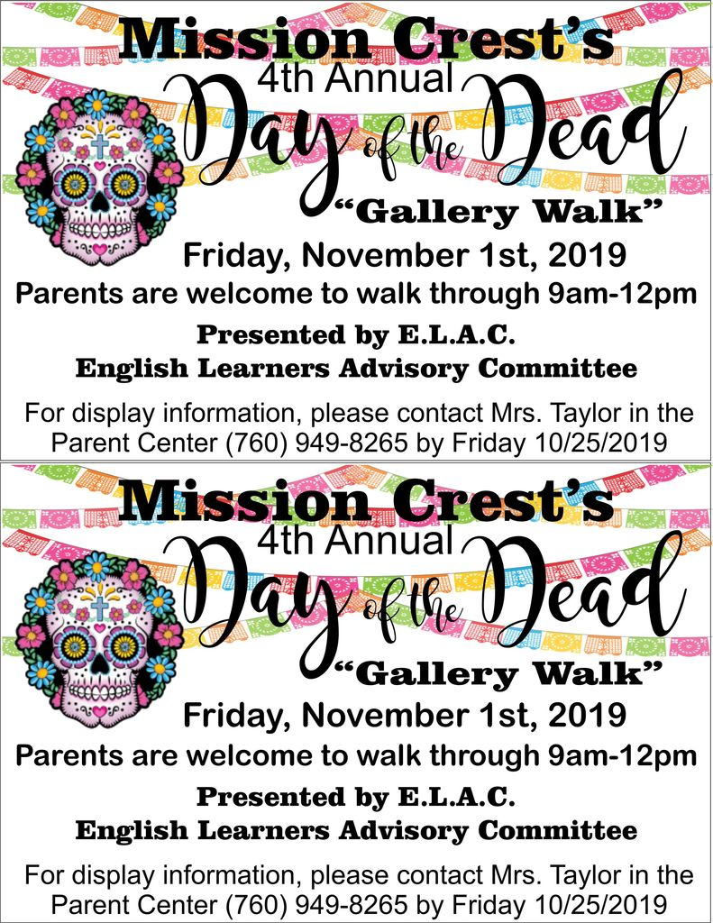 Day of the Dead Gallery Walk Friday 10/25.