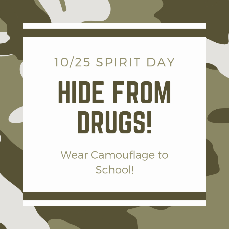Hide from drugs, wear camouflage.