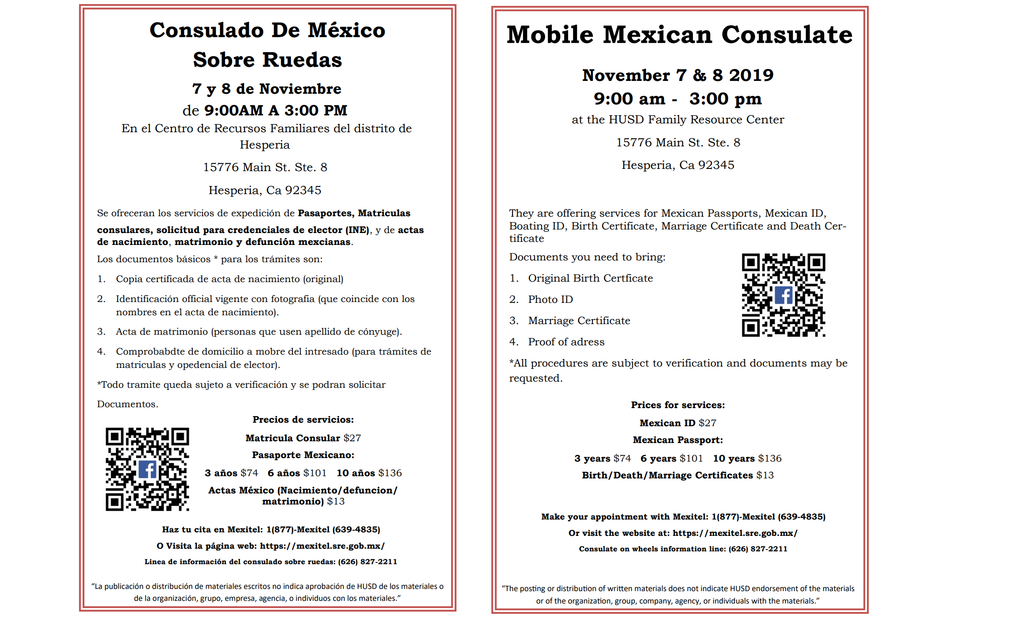 Mobile Mexican Consulate Flyer