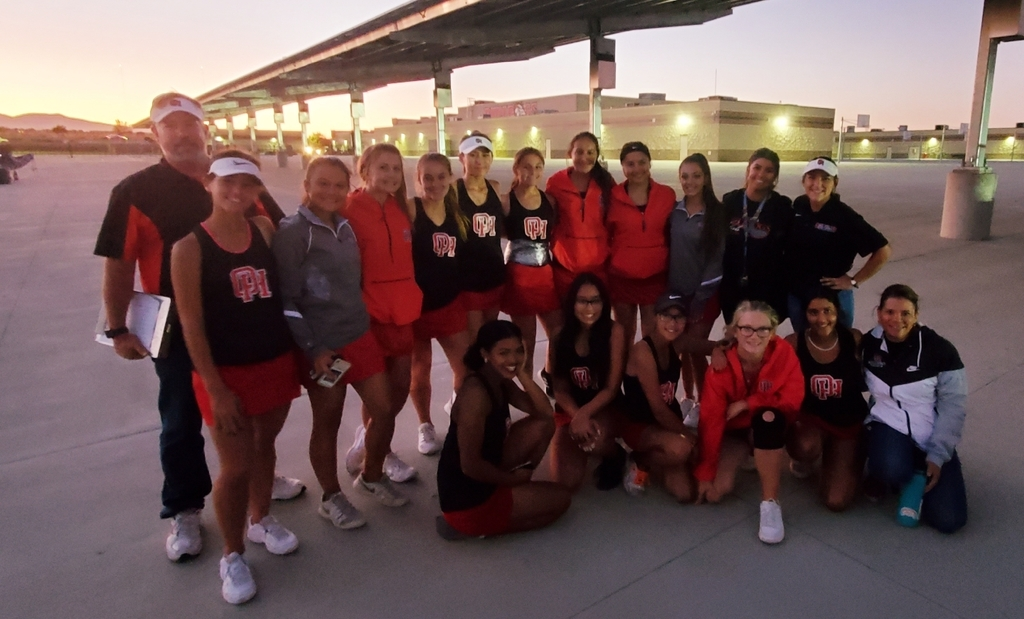 Quarter finals bound!!! Girls tennis does it again with an outstanding 11-7 win over Canyon Springs!