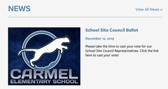 School Site Council Ballot