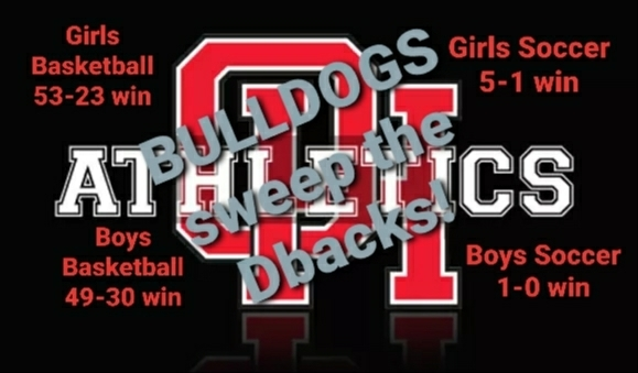 Bulldogs with a clean sweep of Serrano in boys basketball, girls basketball, boys soccer, and girls soccer for the second time this winter! Always a great day to be a Bulldog!