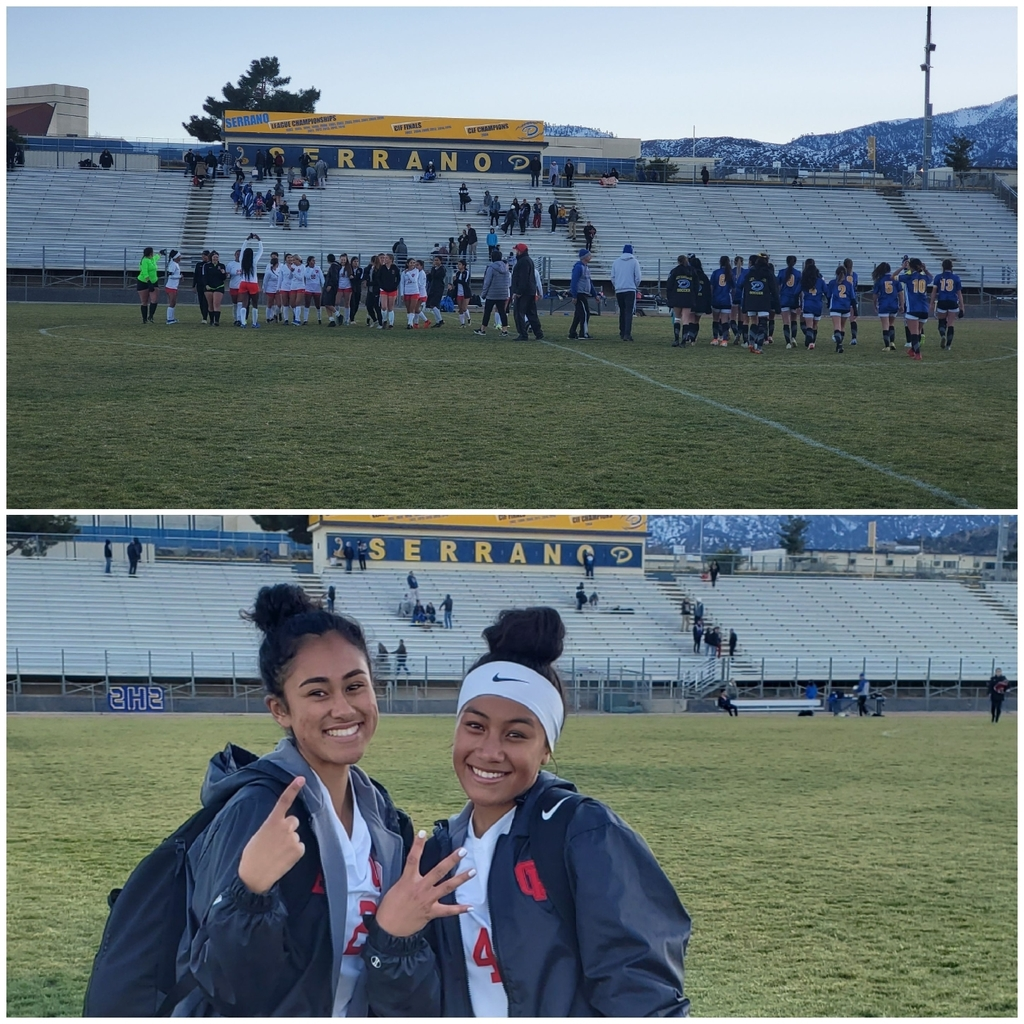 Girls Soccer cruises to a 5-1 victory @ Serrano making school history again! This marks the first time the Girls Soccer program has won BOTH league contests versus the Diamondbacks. Amazing team effort today punctuated by 4 goals from Kolo Suliafu & 1 goal by Avery Bravo!