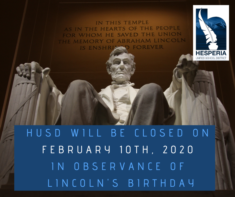 Closed for Lincoln's Birthday Announcement
