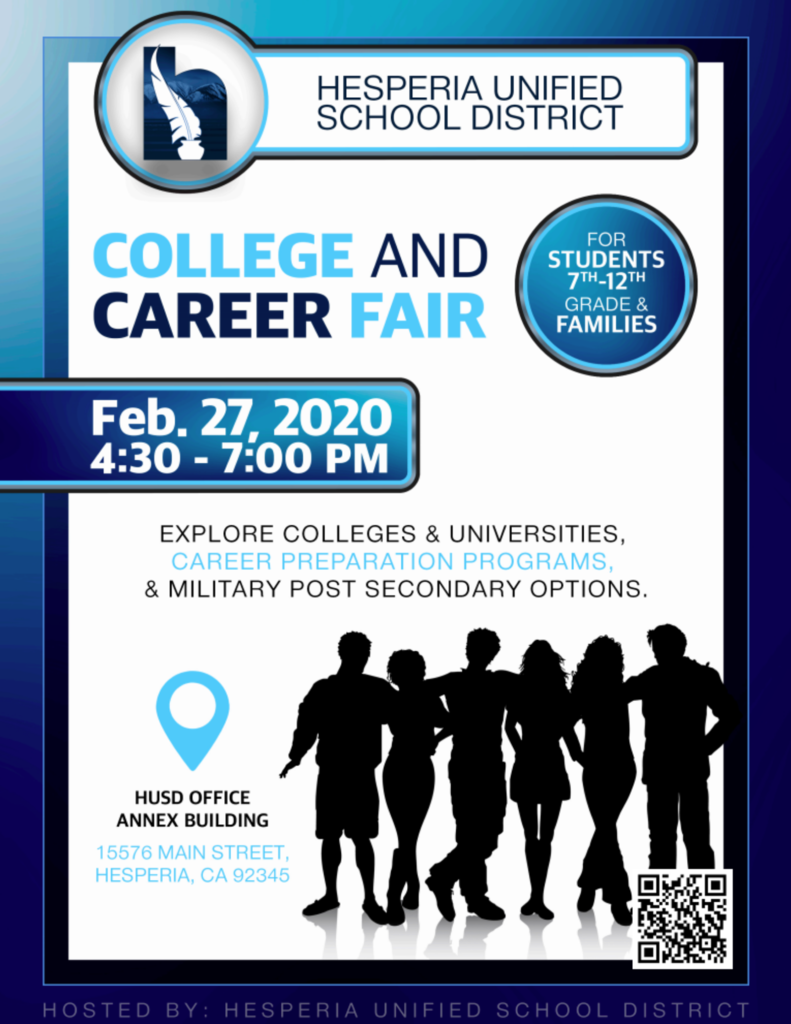 College and Career Fair Flyer English